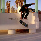 Skateboarding in Abandoned Waterpark in the Desert