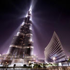Lights of Burj Khalifa in Dubai