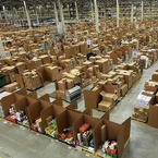Amazon's huge wearhouse in Swansea, Wales