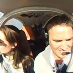 Funny marriage proposal on an airplane