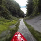 Extreme Kayaking Down a Drainage Ditch at 56 km/h!