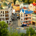 Miniature Kiev, Ukraine tilt-shift timelapse video