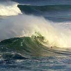 Portugal surfing big waves