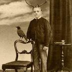 Old Weird Photos antlers on a boy