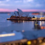 Sydney tilt-shift timelapse video