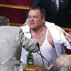 Fighting in the Ukrainian Parliament
