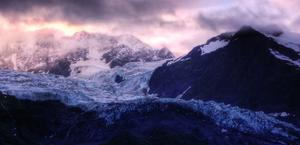 Alaska Sunrise overlooking Glacier HD Wallpaper