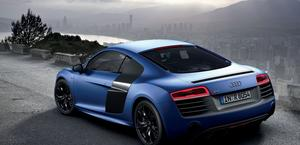 Audi R8 V10 Blue HD Wallpaper