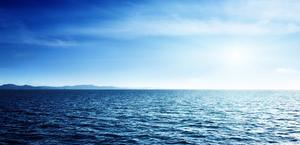 Distant Land view from ocean HD Wallpaper