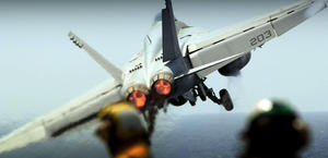 F18 Hornet Take off Carrier HD Wallpaper