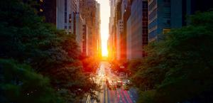 Manhattanhenge in New York, USA HD Wallpaper
