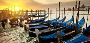 Venetian Gondolas Wallpaper HD 1920x1200