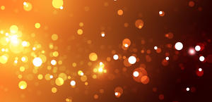 Beautiful Warm Hues Bubbles Sparks HD Wallpaper