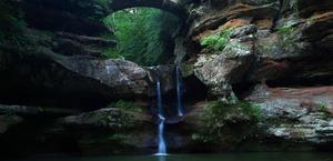Waterfall old man's cave Huge Wallpaper