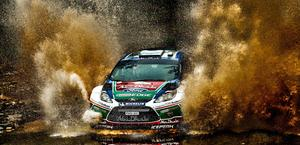 Ford Focus Eco Boost WRC Rally Huge Puddle