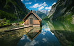 bavarian lake house wallpaper