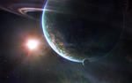 Sunshine Planets HD Wallpaper