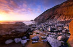 Rocky Beach Sunset HD Wallpaper
