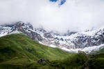 Swiss Alps in the Clouds HD Wallpaper