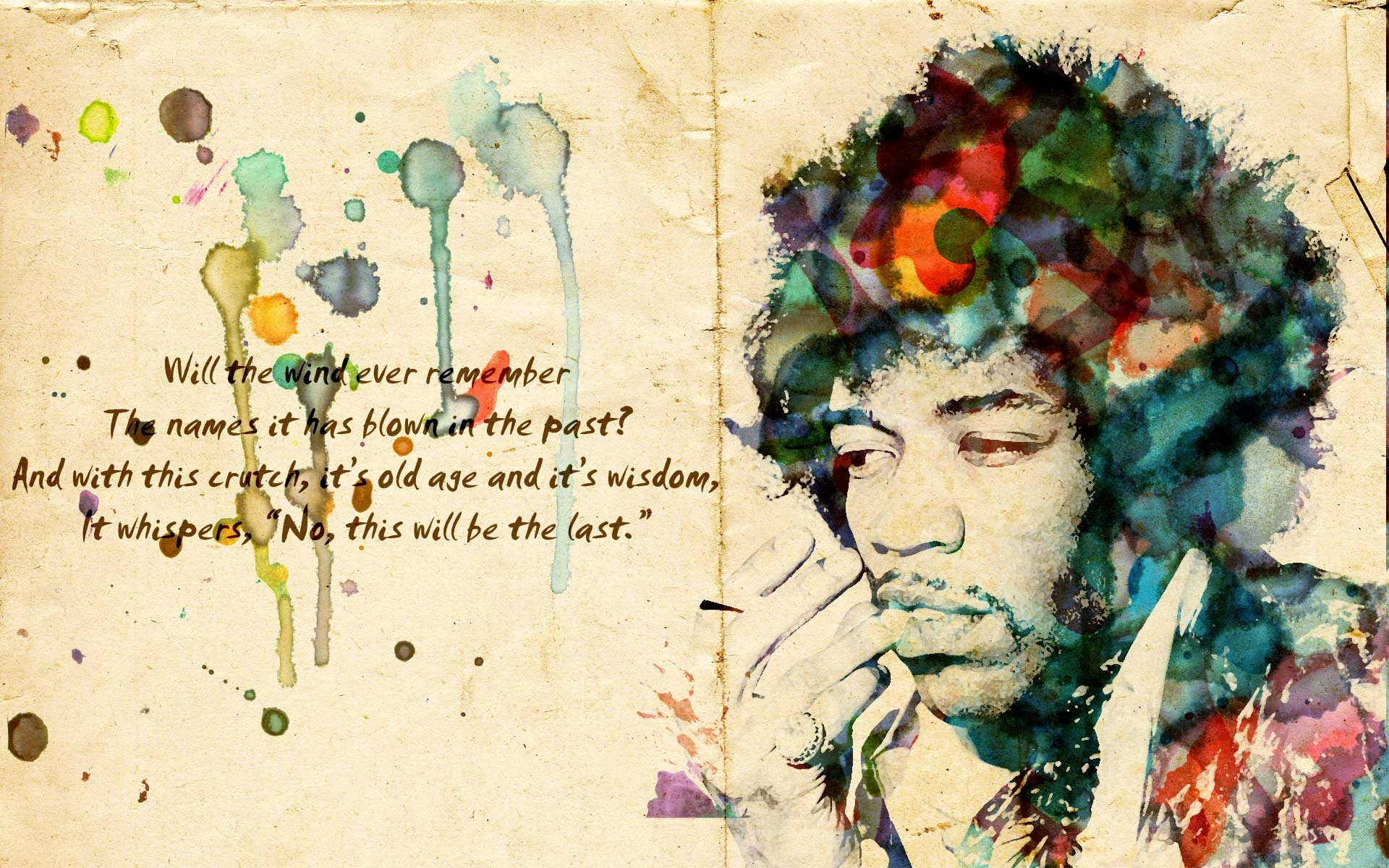 Daily wallpaper jimi hendrix i like to waste my time altavistaventures Choice Image
