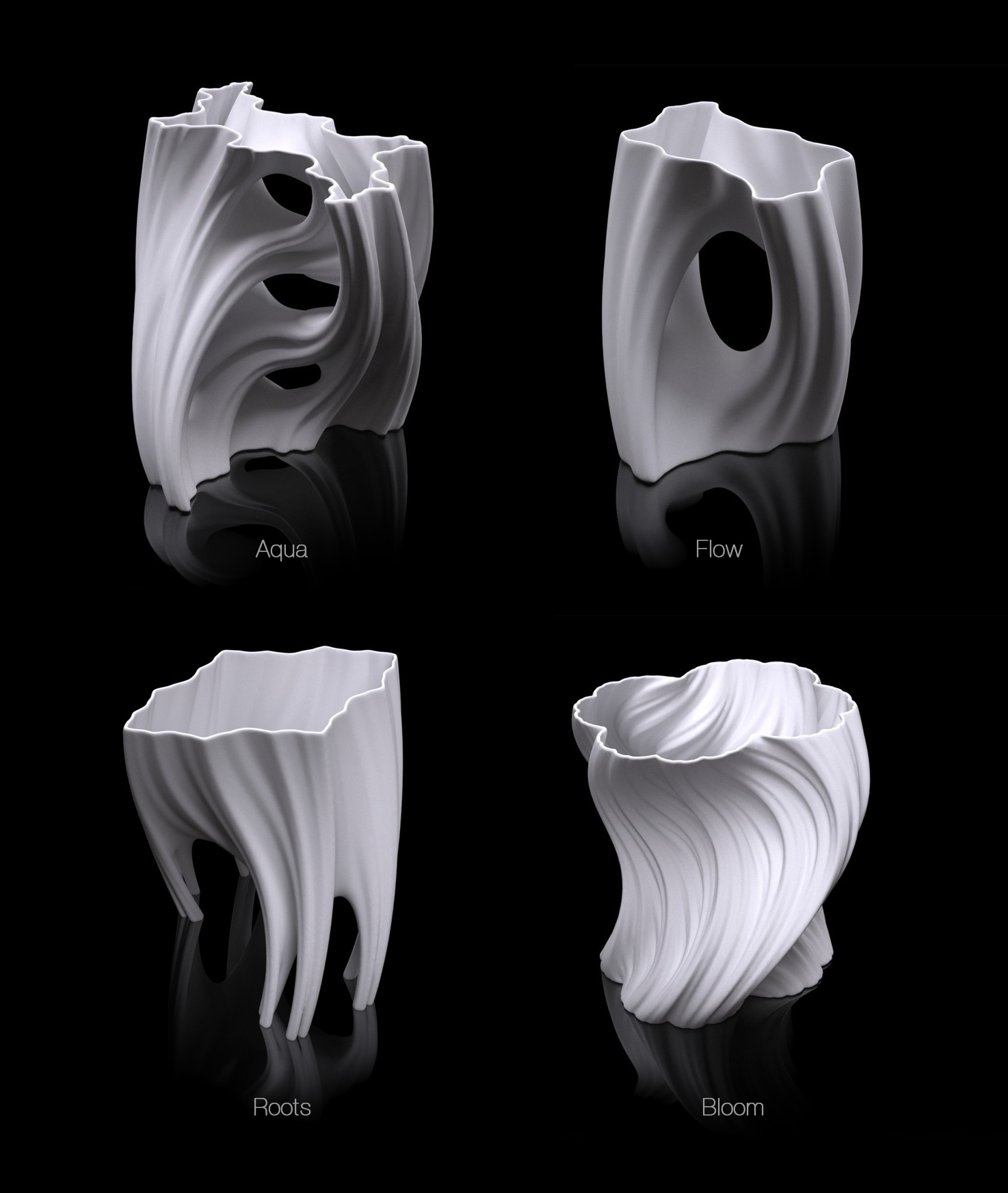 fahz vase printed products plastic faces in white pla inch custom