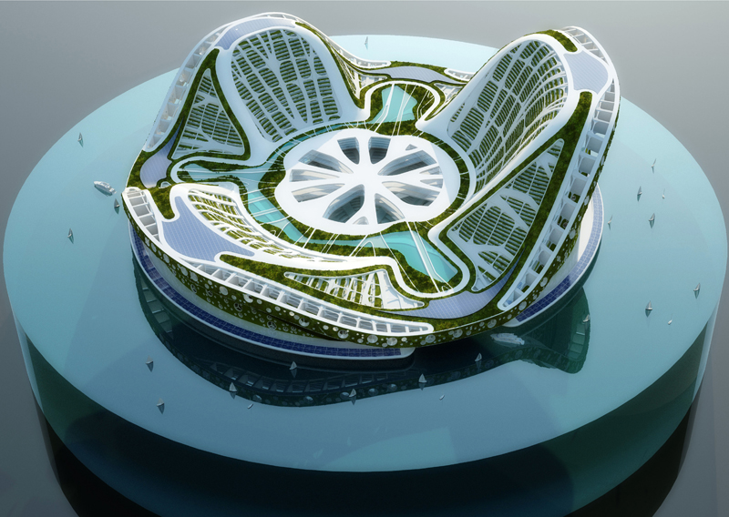 amazing sustainable architecture of the future 9 pics - Lilypad Architecture