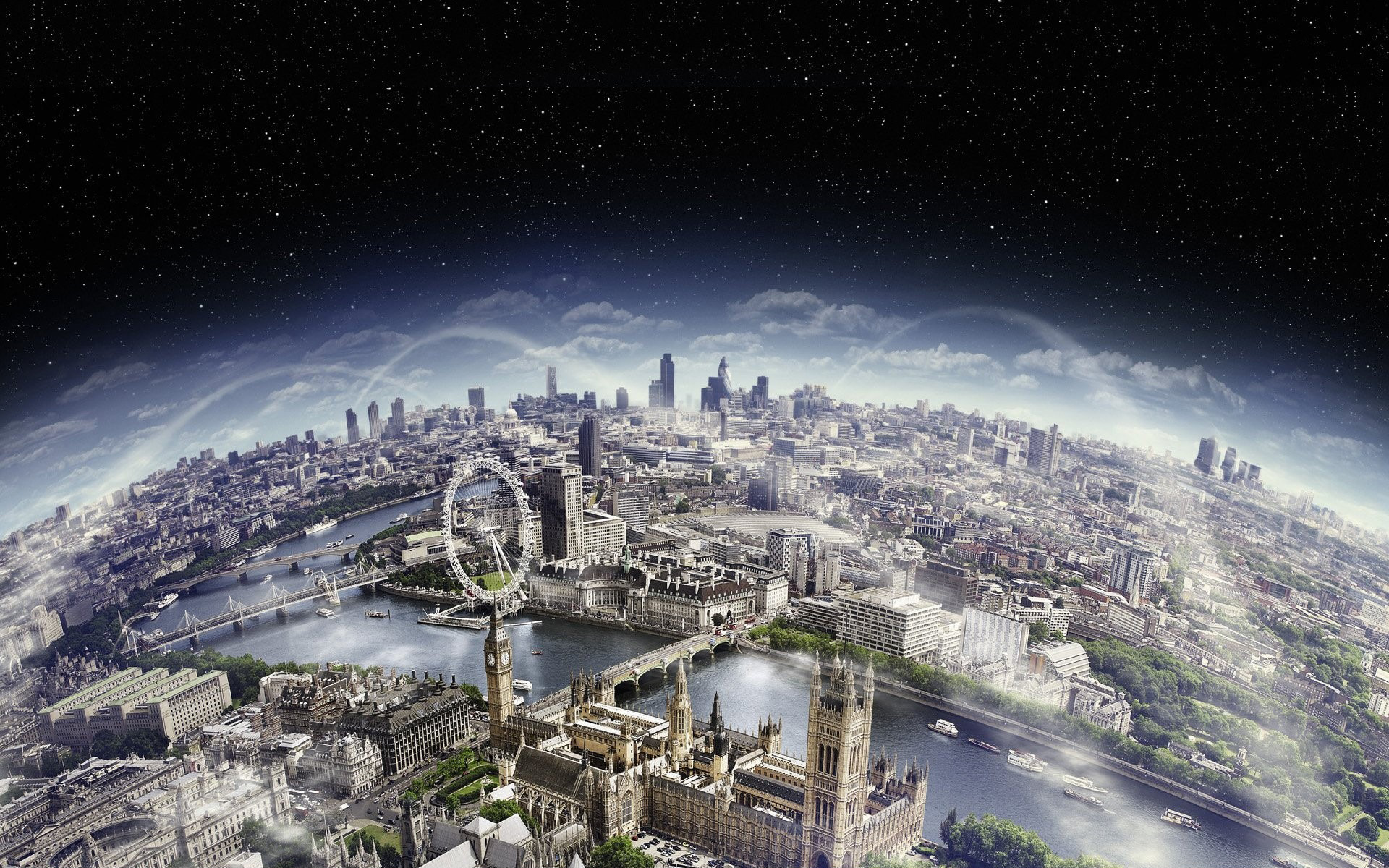 Daily Wallpaper London Aerial View I Like To Waste My Time