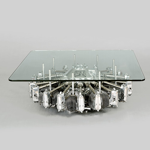 A Stylish Table Created Using A Real Airplane Engine I