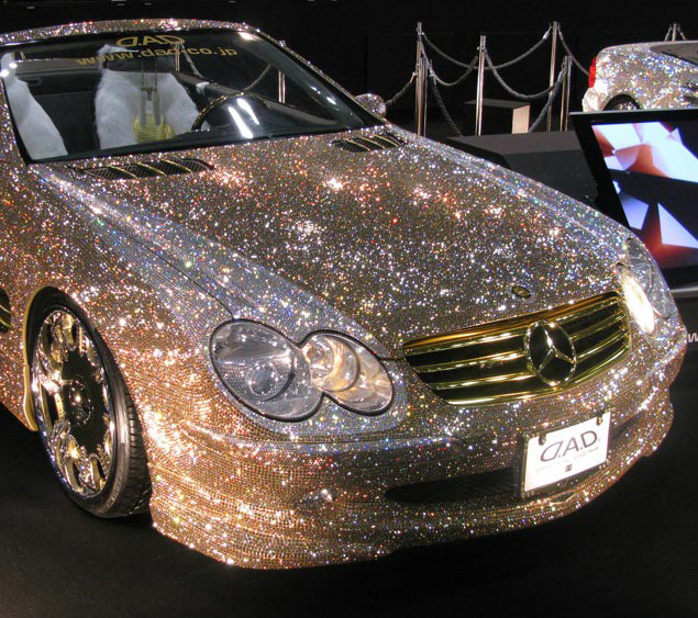 Crystal Studded Mercedes Benz Sl600 I Like To Waste My Time