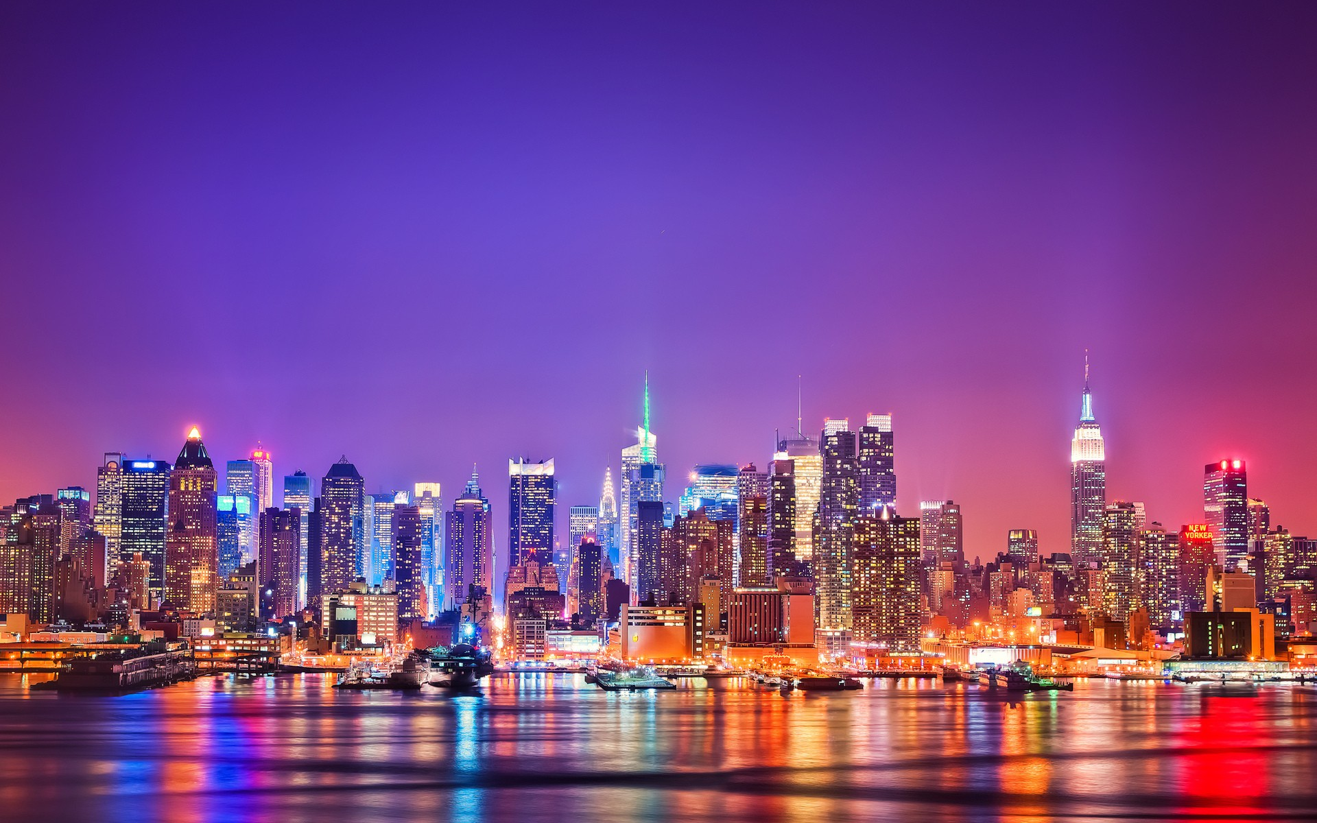 Daily Wallpaper New York Skyline At Night