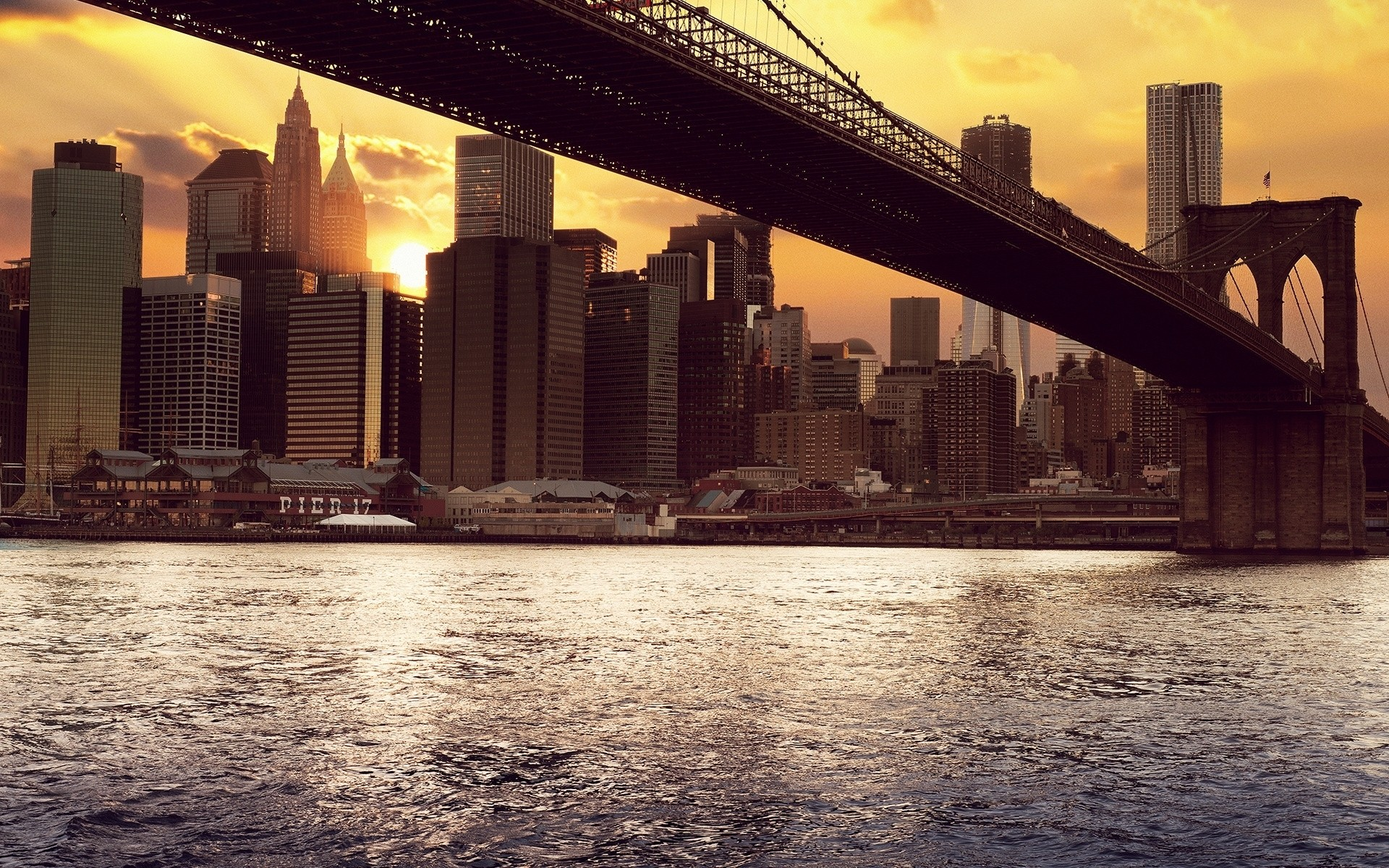 Daily Wallpaper: Pier 17, Brooklyn, New York City | I Like To Waste My Time