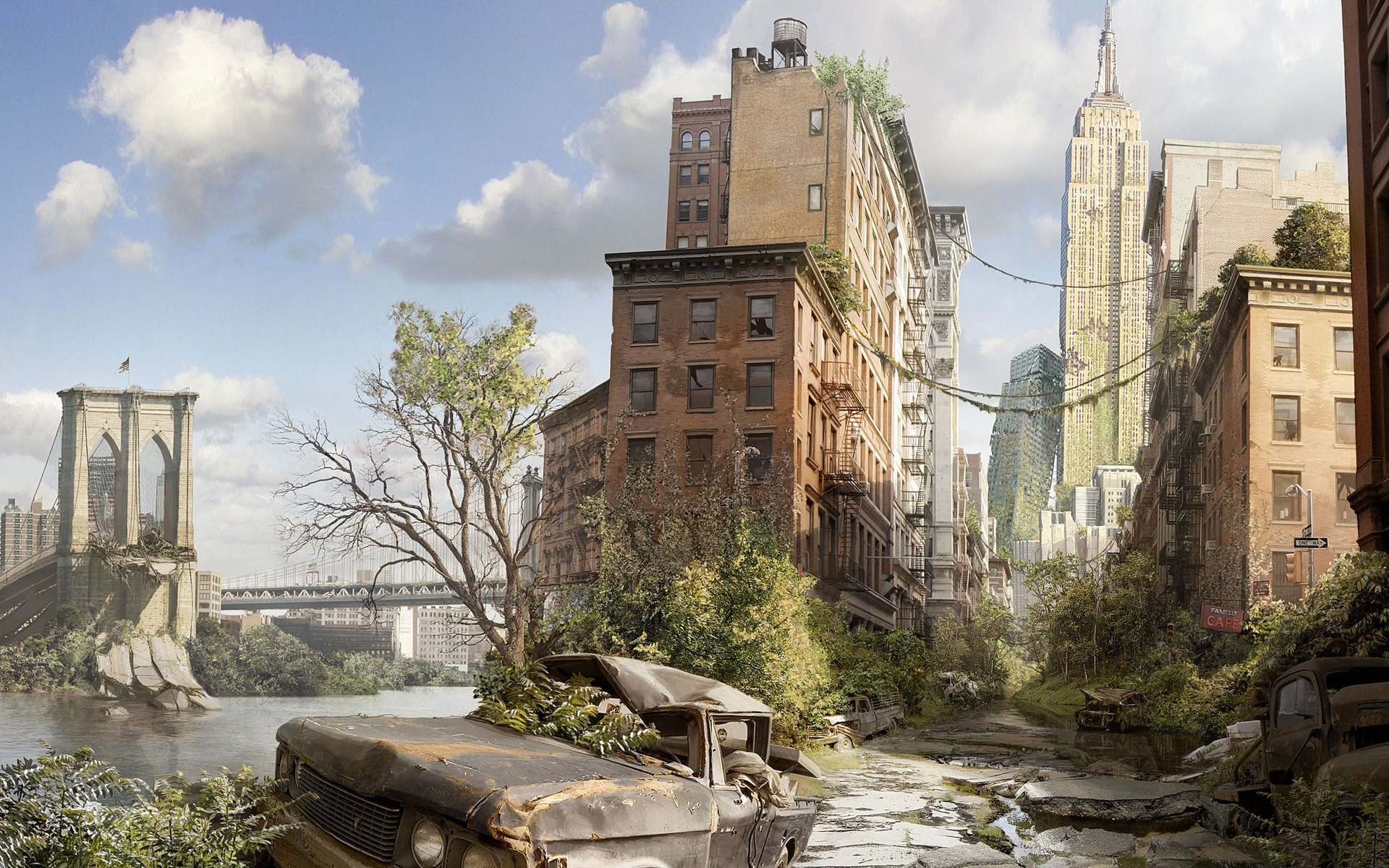 Daily Wallpaper Post Apocalyptic New York