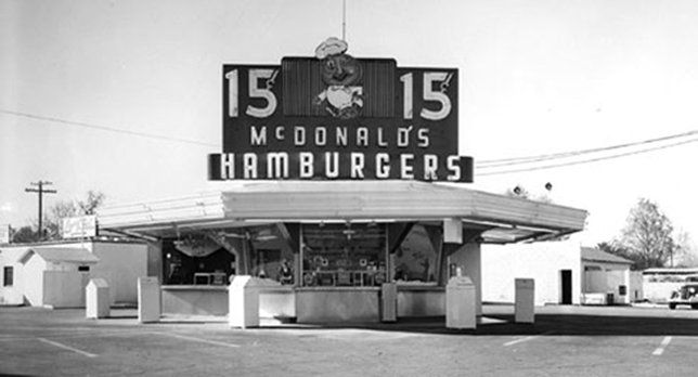 mcdonalds history Some mcdonald's history mcdonald's was founded in 1940 as a barbeque restaurant in san bernardino, california, by richard and maurice mcdonald.