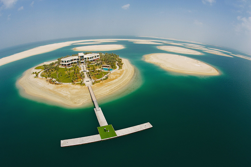 The only way to reach this island is by a boat  or a helicopter  This    The World Dubai