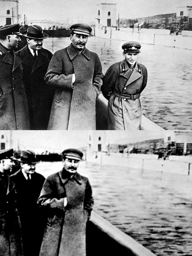 Image result for stalin editing photos