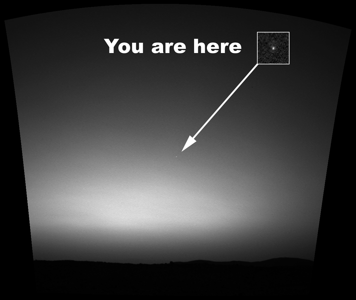 In Perspective: Planet Earth As Seen From Mars | I Like To ...