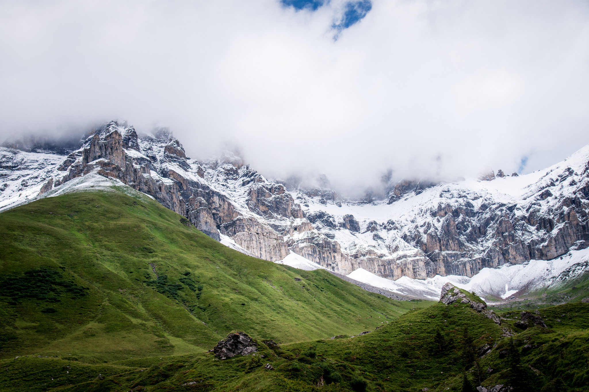 daily wallpaper: swiss alps | i like to waste my time