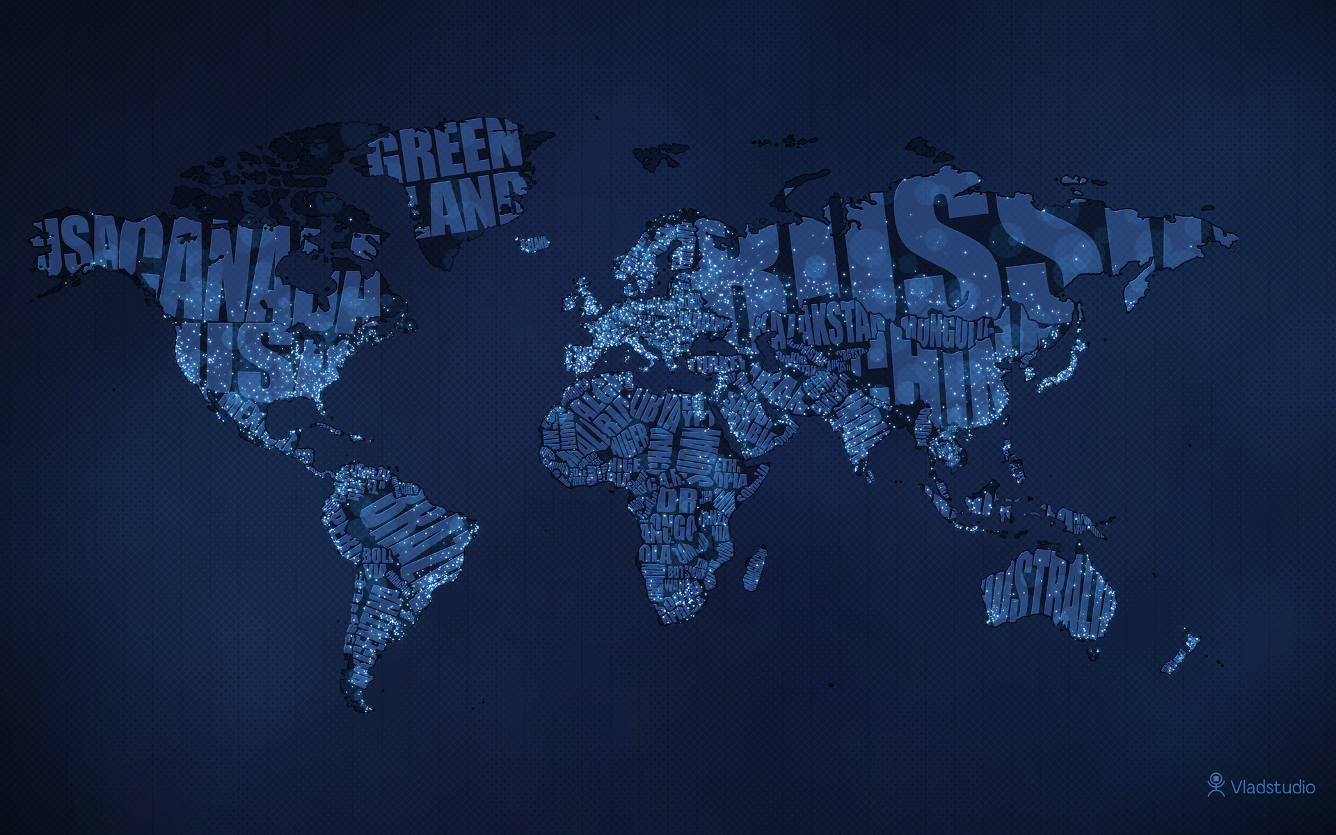 Daily Wallpaper: Typographic World Map