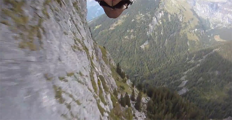 Pushing it to the limit in a wingsuit video i like to waste my time - Military wingsuit ...