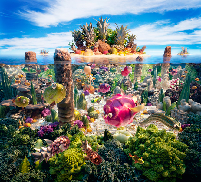 A World Created From Food [25 Pics]