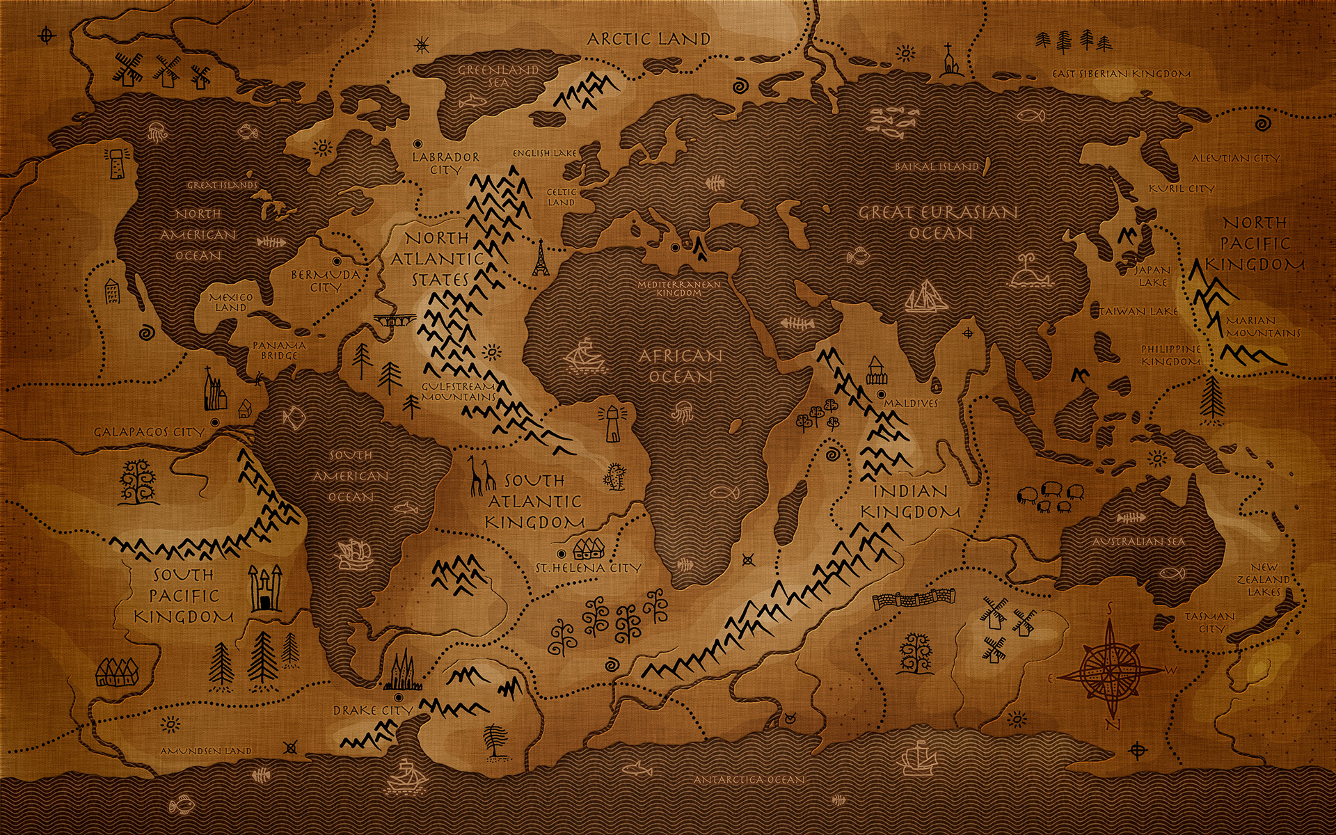 Daily Wallpaper A Different Take On An Ancient Map I Like To