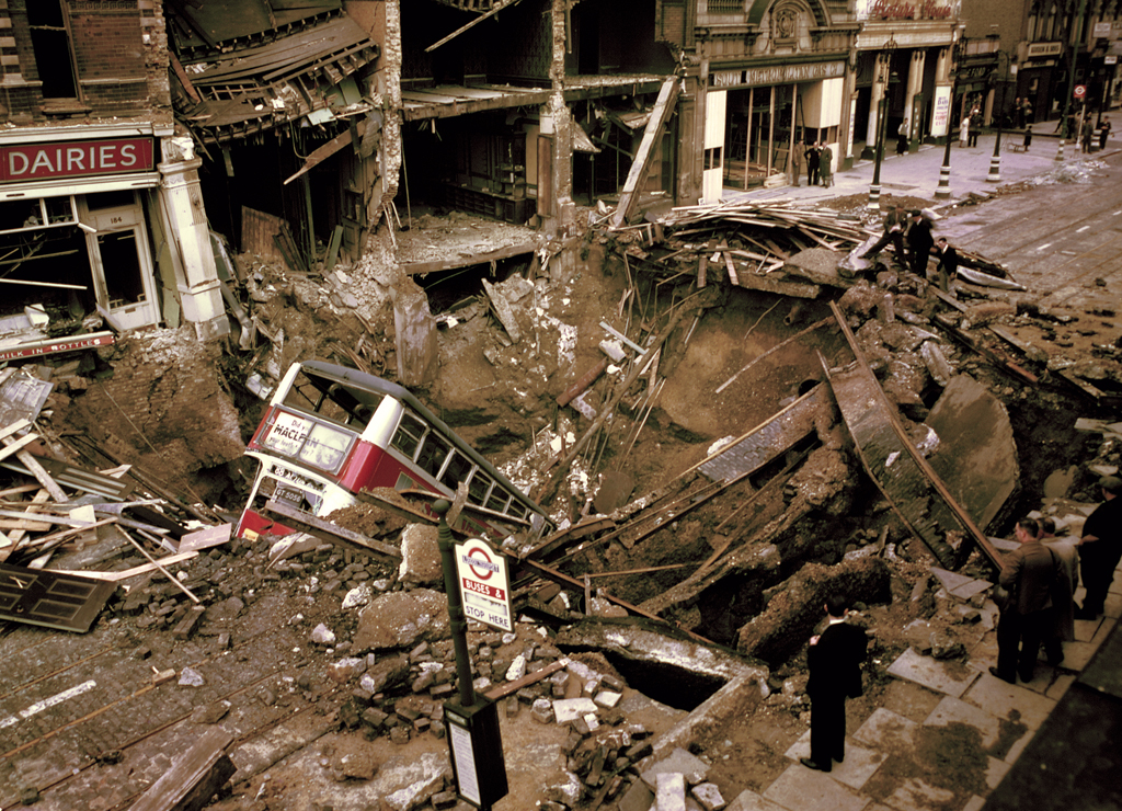 Destruction Of The Berlin Wall London in Colour Durin...